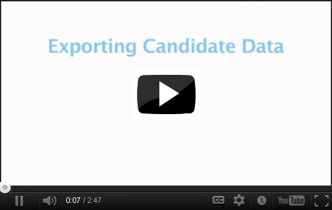 Watch Exporting Candidate Data